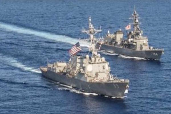 US warships transit Taiwan Strait