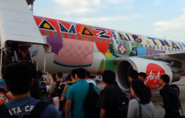 รอขึ้นเครื่องบิน แอร์บัส A320