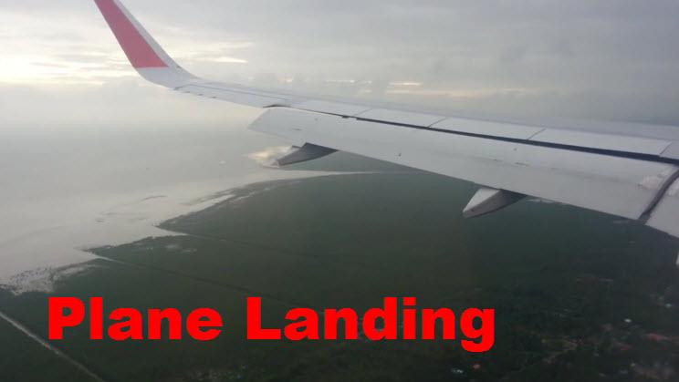 เครื่องบินลงจอด Plane Landing