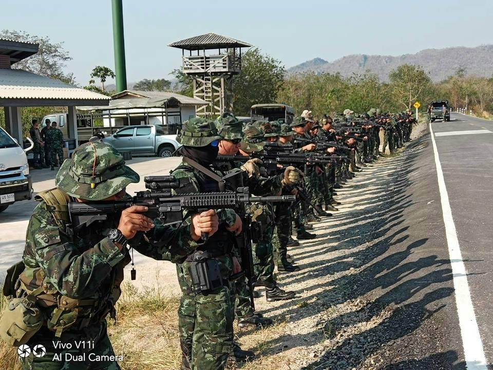 ทีมฝึกร่วมไทย-สหรัฐ รหัส Balance Torch ฝึกยิงปืนทางยุทธวิธี