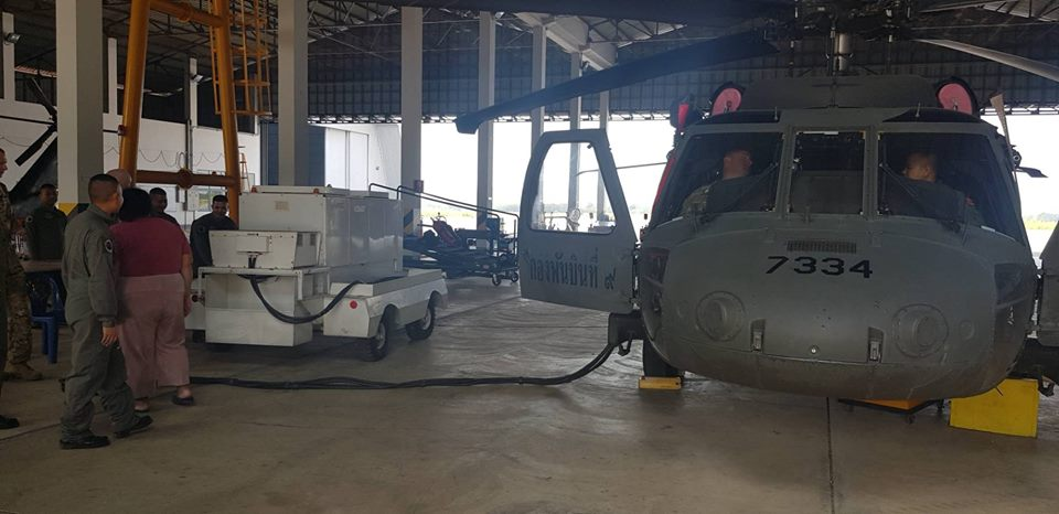 ทีมบิน Black Hawk ฝึกคอบร้าโกล