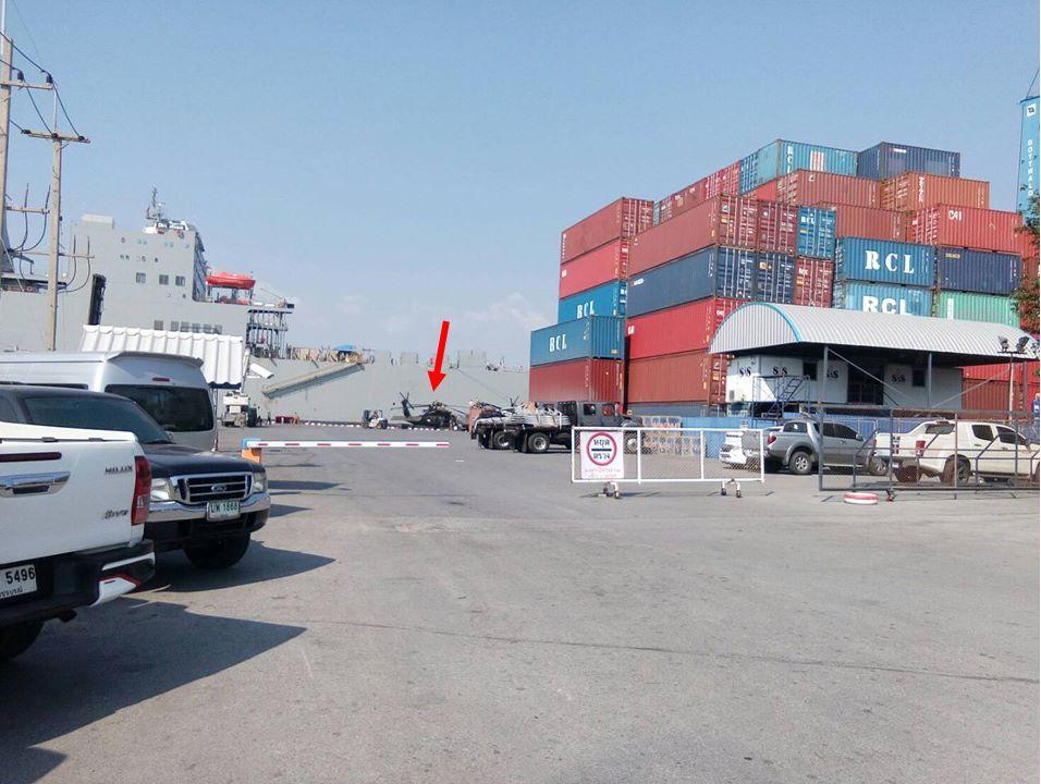 ฮ.แบล็คฮอคจอดที่ท่าเรือ เตรียมเคลื่อนย้าย