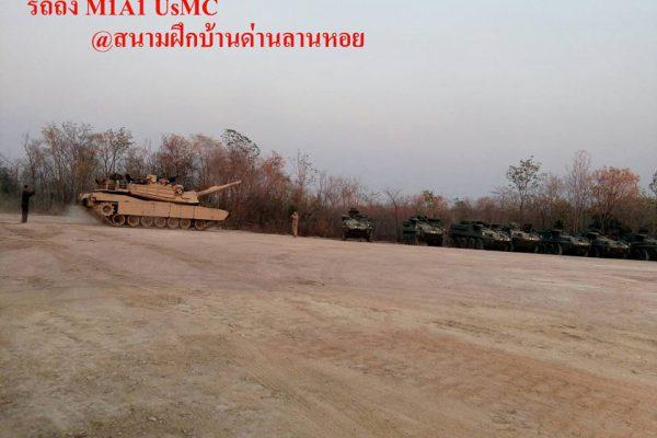 รถถังหลัก M1A1 ABRAMS สีทะเลทราย