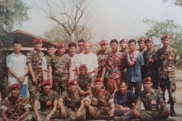 การฝึกวิชาทหารของพลร่มป่าหวาย วิชาระเบิดทำลาย